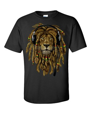 RASTA LION with HEADPHONES